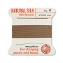 #4 Beige Griffin Silk Bead Cord (2 Meters)