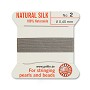 #2 Grey Griffin Silk Bead Cord (2 Meters)