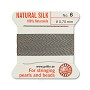 #6 Grey Griffin Silk Bead Cord (2 Meters)