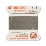 #8 Grey Griffin Silk Bead Cord (2 Meters)