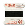 #6 Black Griffin Silk Bead Cord (2 Meters)