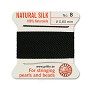 #8 Black Griffin Silk Bead Cord (2 Meters)