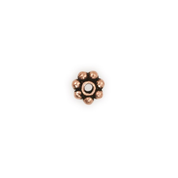 4x1mm Daisy Spacer Heishi Copper Bead (10-Pcs)