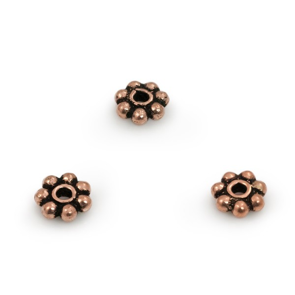 5x2mm Daisy Spacer Copper Bead (10-Pcs)