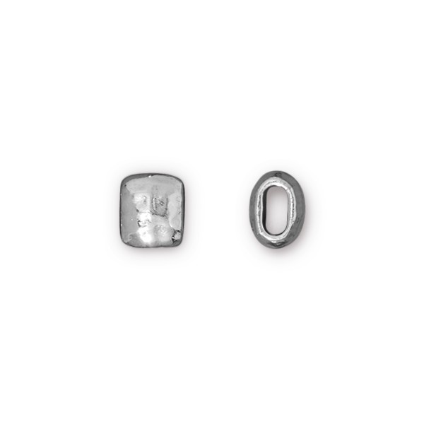 TierraCast 7mm Rhodium Plated Pewter Barrel Bead (1-Pc)
