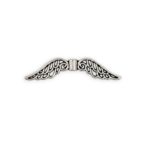 32x8mm Pewter Angel Wing Bead (1-Pc)