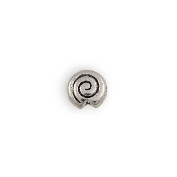 11x6 Pewter Nautilus Bead (1-Pc)