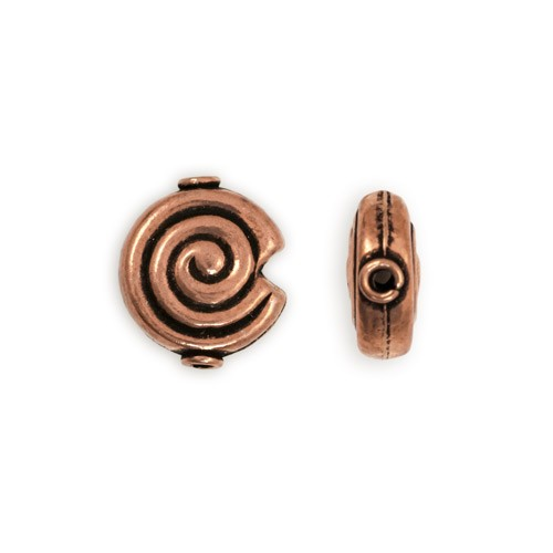 16x18mm Spiral Copper Bead (1-Pc)