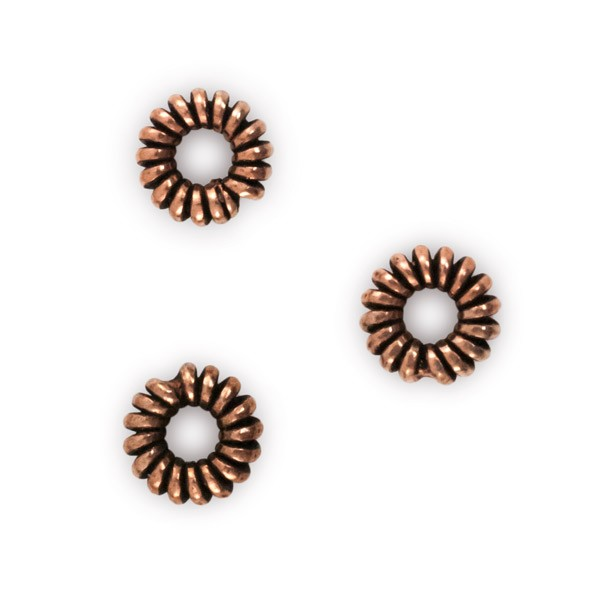 Copper Coil Spacer Bead 6x2mm (10-Pcs)