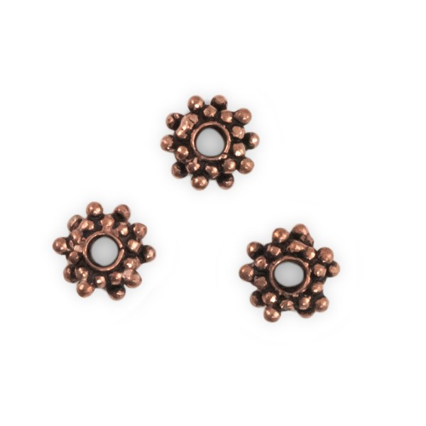 Designer Copper Bead Spacer 9x3mm (1-Pc)