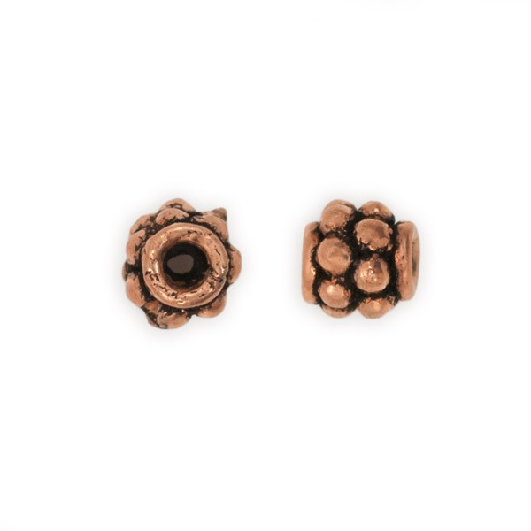 6x6mm Stacked Flower Copper Bead (1-Pc)