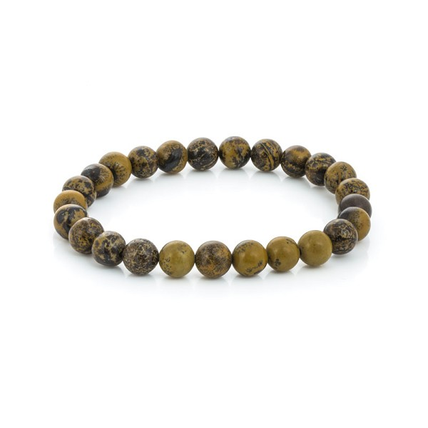 Artistic Jasper Bead 7-½ Inch Stretch Bracelet (1-Pc)