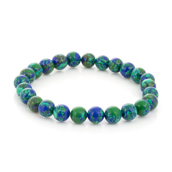 Azurite Bead 7-½ Inch Stretch Bracelet (1-Pc)