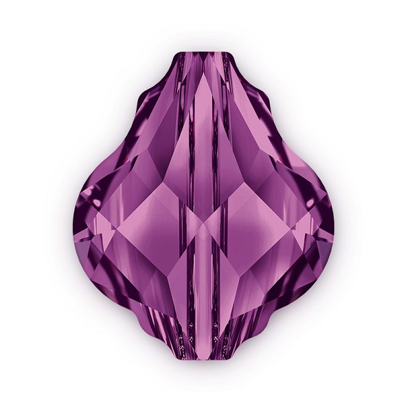 Swarovski Crystal 5058 14mm Amethyst Baroque Bead (1-Pc)