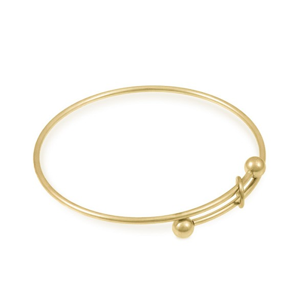 "Expandable Bracelet 7-8"" Gold Plated (1-Pc)"