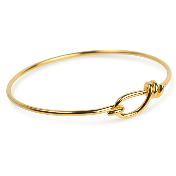 "TierraCast Wire Bracelet with Hook Opening 7-1/2"" Gold Plated Brass (1-Pc)"
