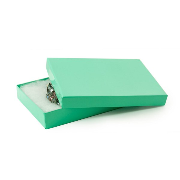Teal Paper Jewelry Box #53