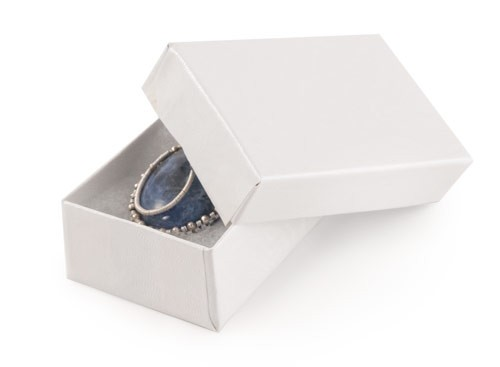 White Swirl Jewelry Box #21