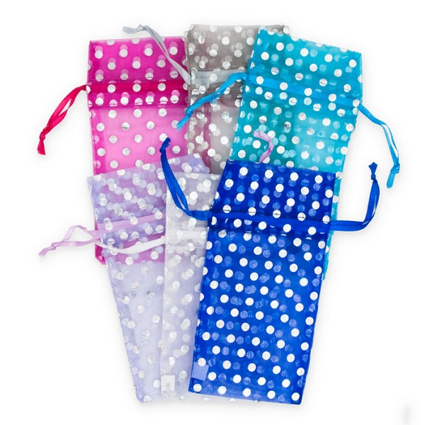 Assorted Polka Dot Pouches 3x4