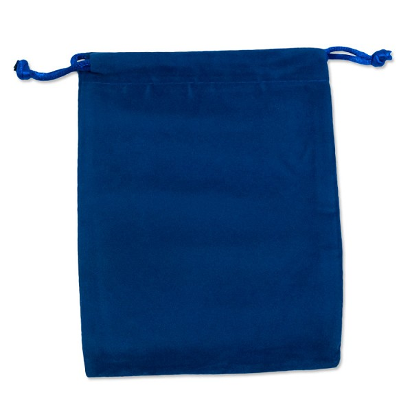 "Velvet Drawstring Pouch 4x5"" Royal Blue (10-Pcs)"