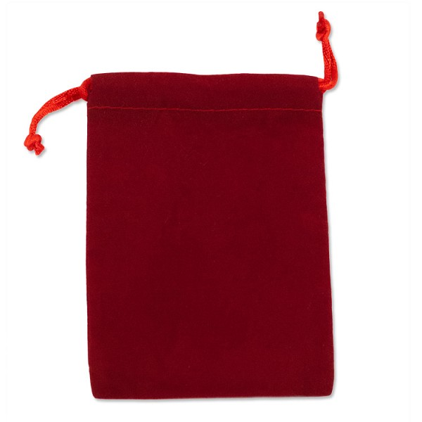 "Velvet Drawstring Pouch 4x5"" Red (10-Pcs)"