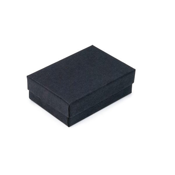 Matte Black Cotton Filled Jewelry Box #B32