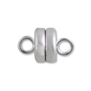 Magnetic Clasp 9 x 6mm Silver Plated (1-Pc)