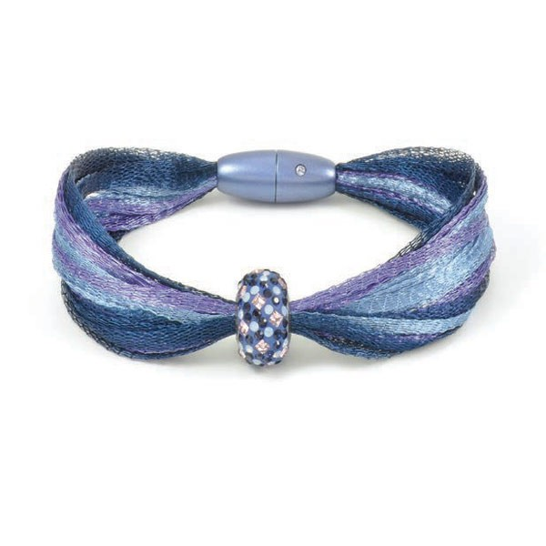 Simplicity Magnetic Clasp with Swarovski Chaton 21x9mm Blue