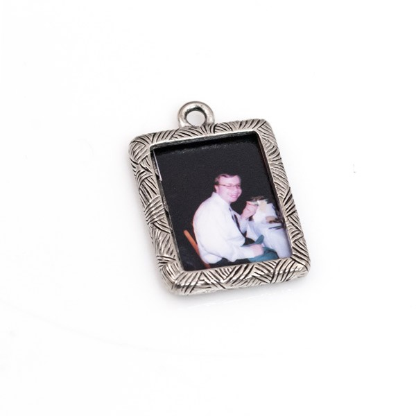 20x16mm Antique Silver Plated Pewter Picture Frame Charm (6-Pcs)