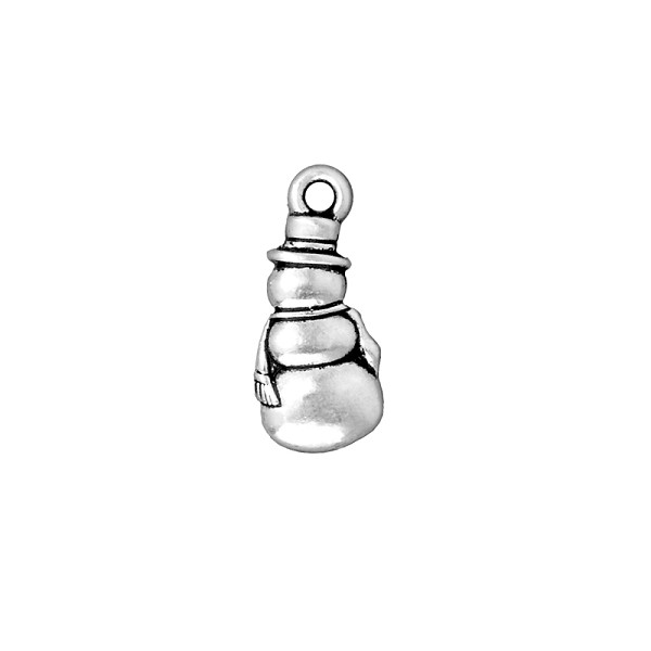 TierraCast Frosty Charm 23x10mm Pewter Antique Silver Plated (1-Pc)