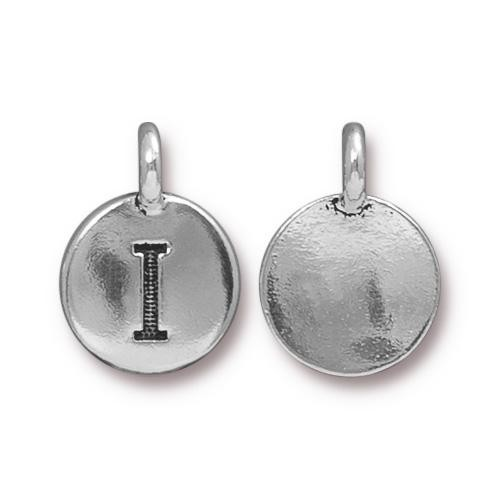 "TierraCast Alphabet Charm with Loop ""I"" 11.5mm Antique Pewter (1-Pc)"