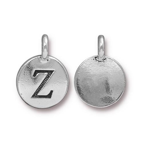 "TierraCast Alphabet Charm with Loop ""Z"" 11.5mm Antique Pewter (1-Pc)"