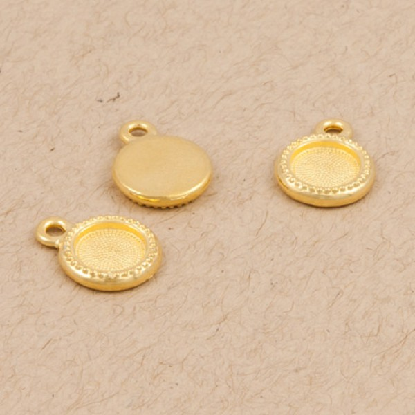 TierraCast Beaded Bezel Drop 10.4mm Bright Gold (1-Pc)