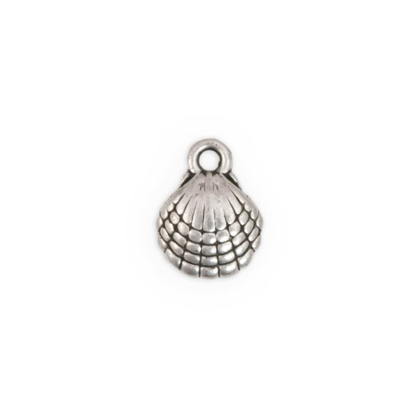 10mm Pewter Shell Charm (1-Pc)