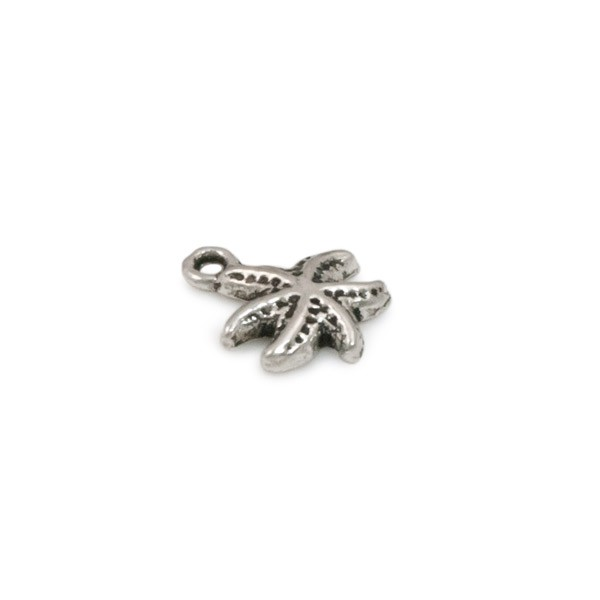 Starfish Charm 11mm Pewter Antique Silver Plated (2-Pcs)