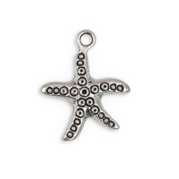 25mm Pewter Star Fish Charm (1-Pc)