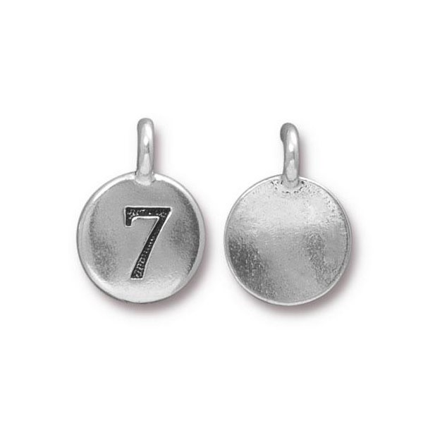 TierraCast Number 7 Charm with Loop 11.5mm Antique Pewter (1-Pc)