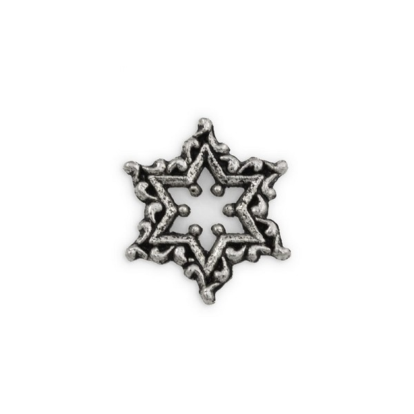 17mm Pewter Snowflake Charm (1-Pc)