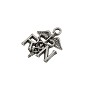 22mm Antique Pewter Registered Nurse Caduceus Charm (1-Pc)