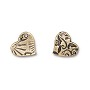 TierraCast Amor Heart Charm 14mm Pewter Brass Oxide (1-Pc)
