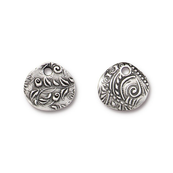 TierraCast Jardin Charm ⅝ Inch Pewter Antique (1-Pc)