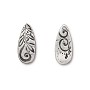 TierraCast Jardin Teardrop Charm 22mm Pewter Antique (1-Pc)