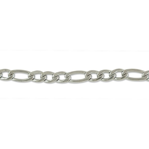 Figaro Chain 4.5mm Surgical Stainless Steel (Priced per Foot)