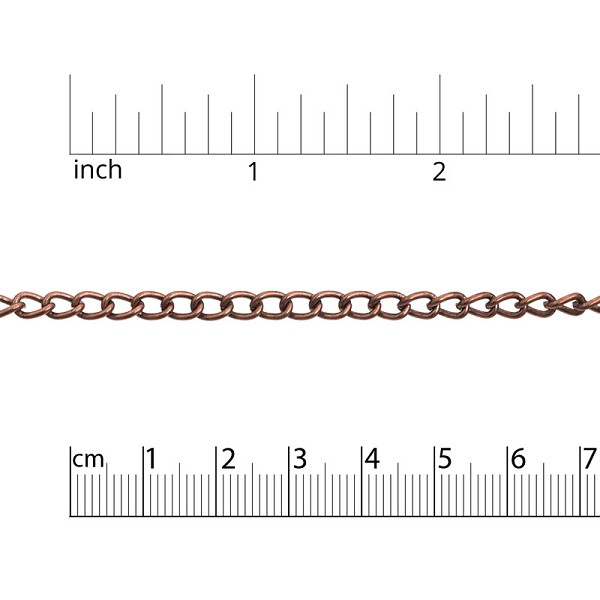 Wide Curb Chain 5.5mm Antique Copper Plated (Priced per Foot)
