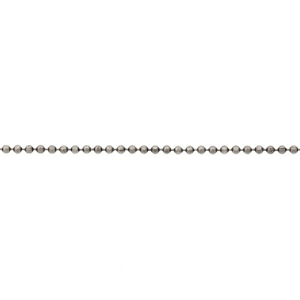 1.5mm Antique Silver Plated Diamond Cut Ball Chain (Priced per Foot)