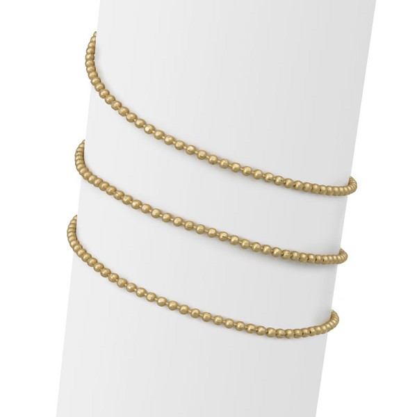 1.5mm Satin Hamilton Gold Diamond Cut Ball Chain (Priced per Foot)