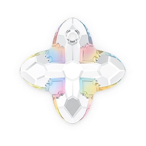 Swarovski 6868 Cross Tribe Pendant 14mm Crystal AB (1-Pc)