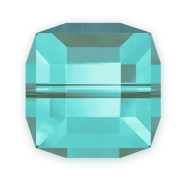 Swarovski Crystal 5601 4mm Light Turquoise Cube Bead (1-Pc)