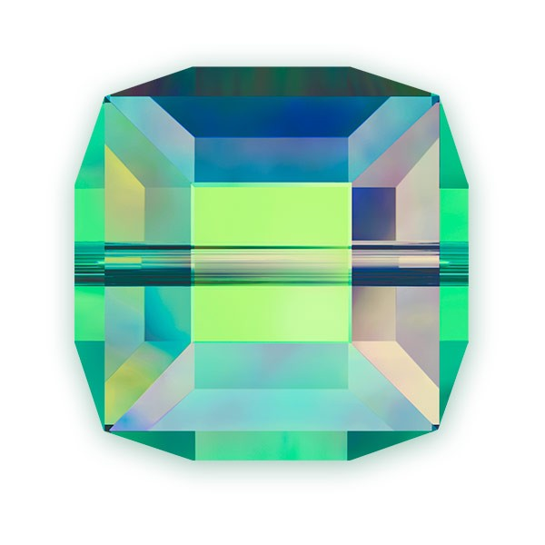 Swarovski 5601 4mm Crystal Vitrail Medium Cube Bead (1-Pc)