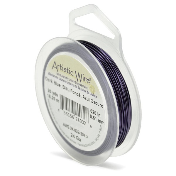 Artistic Wire 24ga Dark Blue (20 Yards)